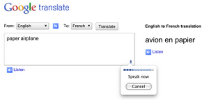 google translate speech now